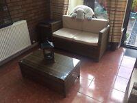 Garden Furniture Patio Conservatory Sofa Set