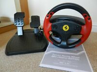 Thrustmaster Ferrari Red Legend Edition Wheel and Pedals Set for PS3 and PC