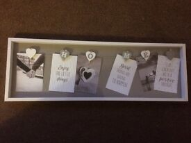 Shabby Chic Home Heart Peg Photo Frame