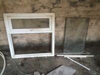 Double glazed top opening window unit