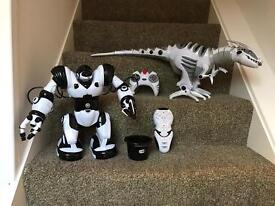 Robo Raptor & Robosapian robot toys will sell together or seperate