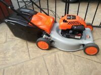 self propelled petrol lawnmower/lawn mower with briggs & stratton engine,just serviced,bargain £80