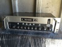 Line 6 Bass Amplifier Head and Cabinet plus foot switch