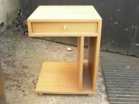 Bedside cabinet/table, with drawer.