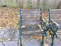 Cast iron garden chairs - bargain price can deliver for additional cost