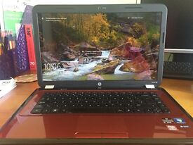 HP Pavilion Red Laptop with pre-installed Windows 7 Home