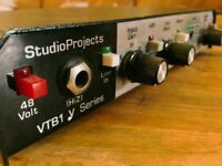StudioProjects VTB1 Mic preamp. Excellent condition, with upgraded tube
