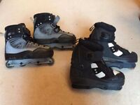 x1 pair of Anarchy Chaos 3 Inline Skates & x1 pair of Deshi DK1 Inline Skates