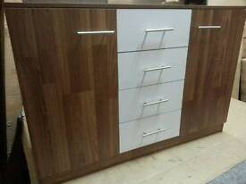 A brand new 2tone 2 door 4 drawer sideboard.