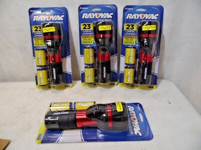Rayovac 4 Pack Hand Held Flash Light Value Bright 23 Lumens Contractor Pack NIB (Taschenlampe Value Pack)