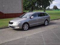 immaculate 2013 Skoda superb elegance 4 X 4 estate in cuppacino beige,