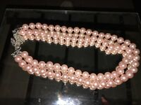 Necklace pink Pearl