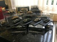 Toy tanks and boats