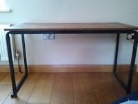 VINTAGE 80'S SCHOOL TABLE, ORIGINAL RETRO TABLE WITH GRAFFITI , VERY STURDY. COLLECT FROM KENT