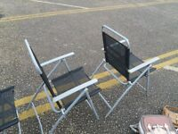 For Sale:- 4 garden fold up chairs
