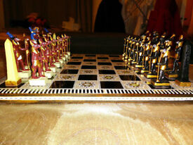 chess board Pharaoh style with nacre (Mother pearl)