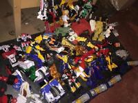 SEE PICS collection toys figures vehicles Transformers Power Rangers Zords play weapons collectible