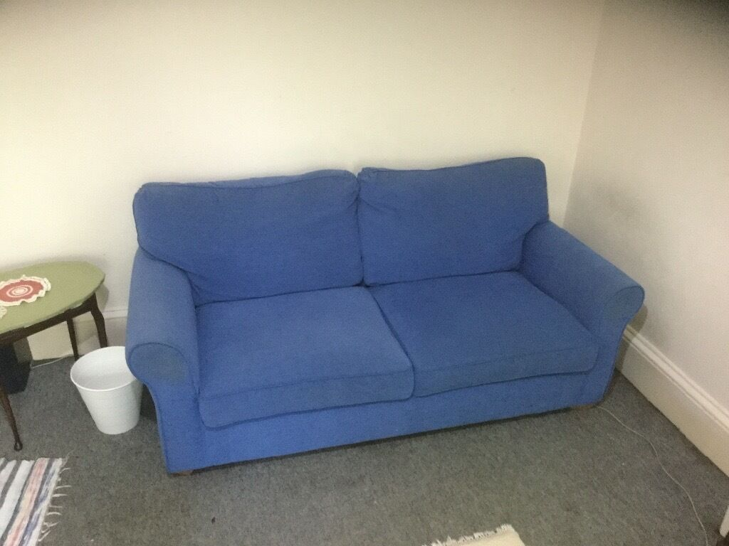 Double Blue Sofa Bed - Lugano Make, Double Bed, Edinburgh.