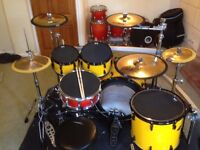 Pearl Masters Premium Maple Drum Kit, Pearl ICON Curved Rack, Zildjian a,z,k Custom Cymbals, + MORE