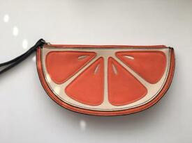 New Look Orange Slice Clutch Bag