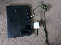 Samsung Galaxy S2 tablet in black on wifi with case and charger