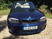 2012 BMW 118D sport, metallic blue, convertible diesel, with BMW service pack!