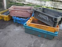 FREE - 6 old fish boxes, previously used to grow veg in, ideal garden storage