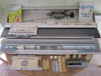 Brother KH260 Chunky Knitting Machine with KR260 Ribber - Fully Working in Good Condition with Table