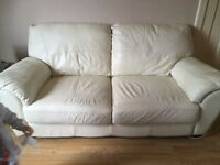 3 and 2 seater leather sofas.
