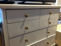 White Solid Wood Chest of Drawers