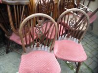 traditional pub chair English wheel-back dining kitchen restaurant cafe