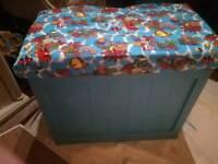 Handmade solid wood toy box