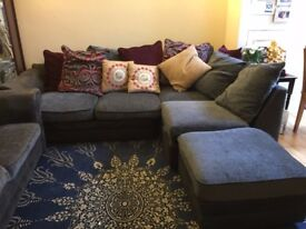CONDITION USED- DFS CORNER SOFA + 3 SEATER SOFA. COLLECTION ONLY
