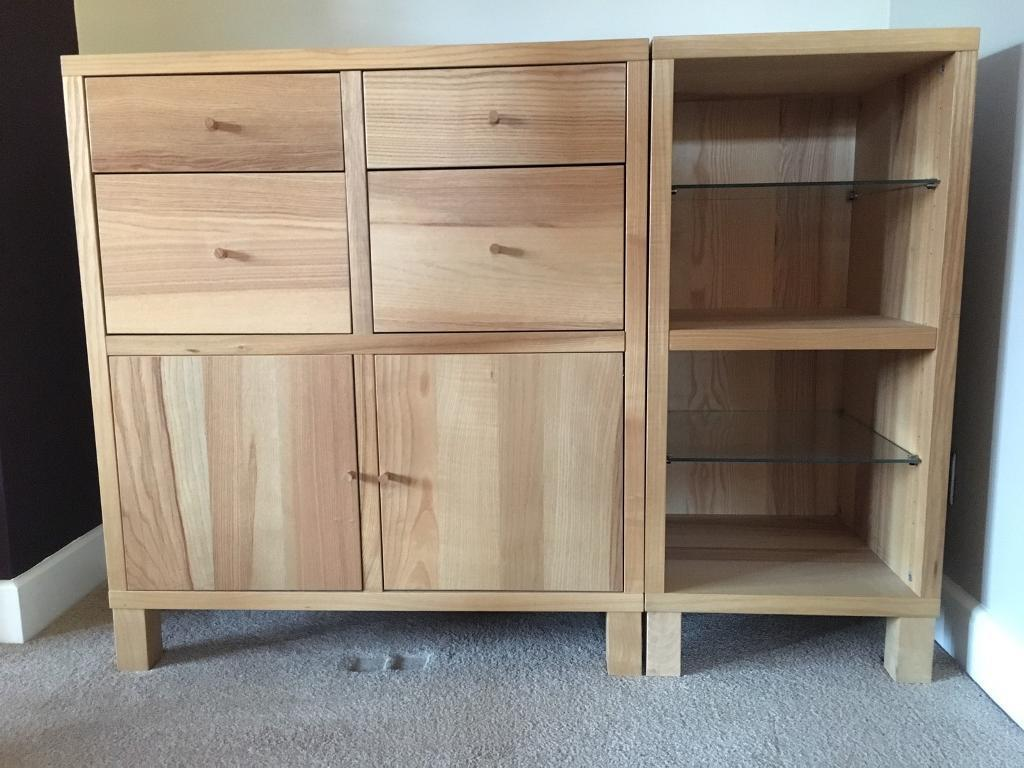 Ikea Light Oak Storage Cabinet With Doors And Drawers In York North Yorkshire Gumtree