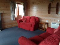 Luxury 2 bedroom Pinelog lodge with unrestricted views of Blencathra and the northern Lake District