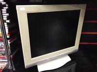 MT-17AES LCD TFT Flatscreen Monitor VGA Audio In White PC Mac