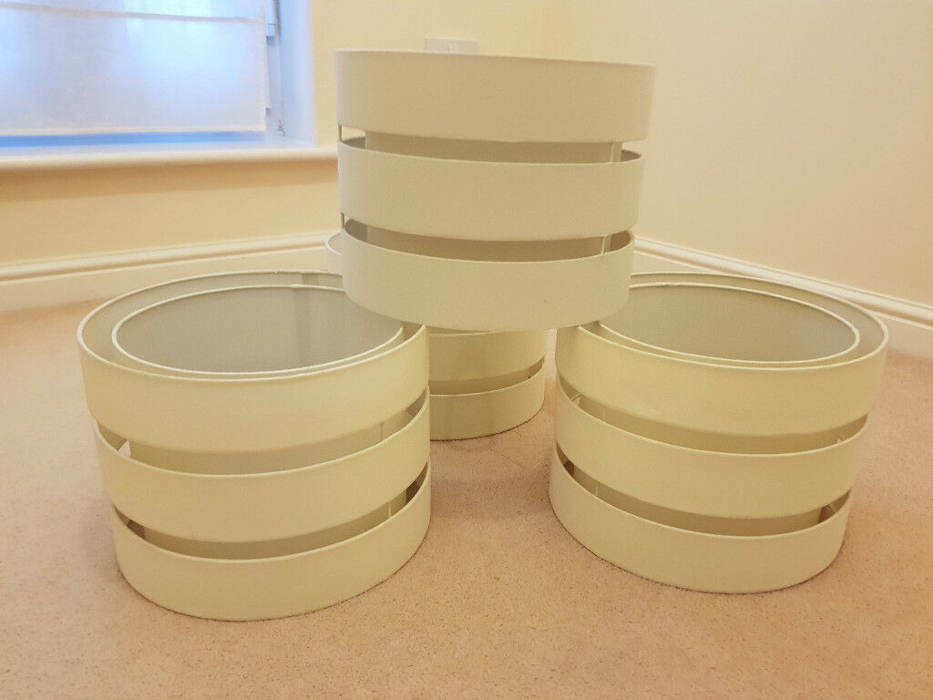 4 x Large Cream Lampshades excellent condition