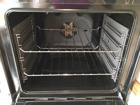 Integrated eye level standard double oven in black , HotPoint DH93CK