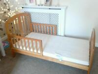 Like new baby WEAVERS John Lewis junior bed with Unused mattress £45