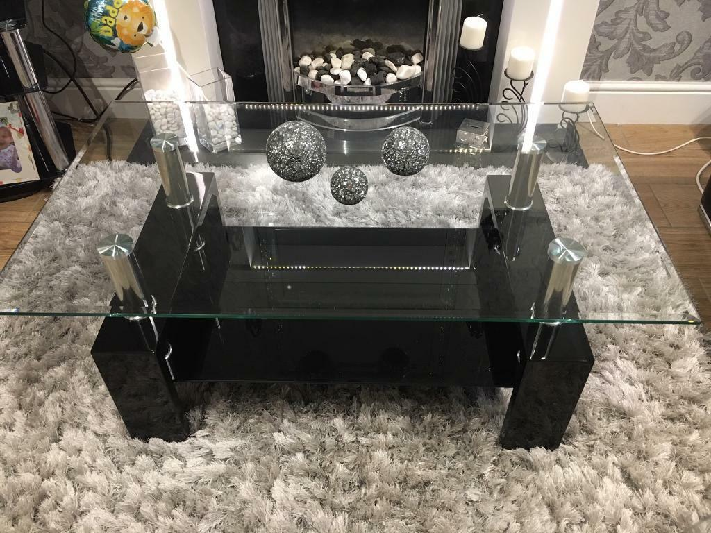 Coffee table and matching consort table