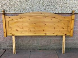 Double Pine Headboard - Can Deliver