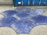 Pattern imprinted concrete matts and tools
