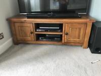 Large Solid Oak TV unit