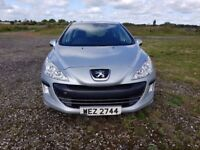 2009 PEUGEOT 308s WITH 25K RECONDITIONED ENGINE FITTED 50 MILES AGO