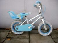 Kids Bike by Disney, White & Turquoise, 12 1/2 inch Wheels for Kids 3+ JUST SERVICED/ CHEAP PRICE!!!