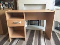 Wooden Desk with Draw & Storage