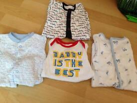 Beautiful 0-3 months boys sleep suits. £1 for all