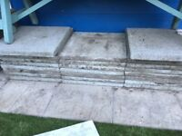 25 Concrete Paving Slabs 45cm x 45cm each