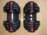 DUMBELLS adjustable 40kg *NEW PAIR BOXED*