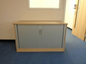 office cupboard with closing sliding doors